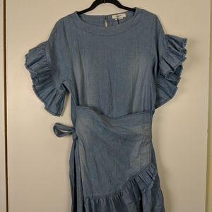 ea7b8e0fce6 Isabel Marant Dresses - Isabel Marant Etoile Lelicia Chambray Apron-Front